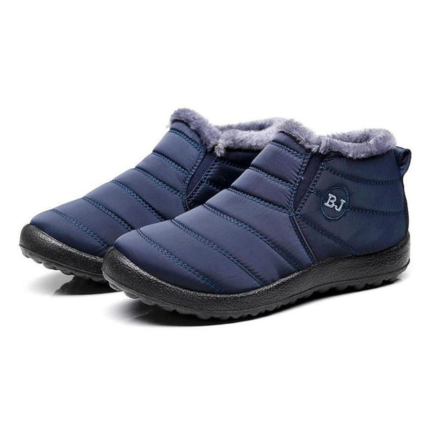 "Men's Waterproof Soft Sole Slip On Warm Casual Snow Ankle Boots(10% Off with Code ""TT10"" )"