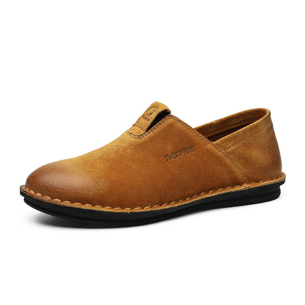 Men Vintage Genuine Leather Casual Shoes Non-slip Leather Shoes
