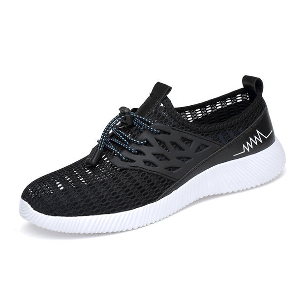 Men's Spring Autumn Mesh Fabrics Outdoor Casual Round-Toe Casual Shoes