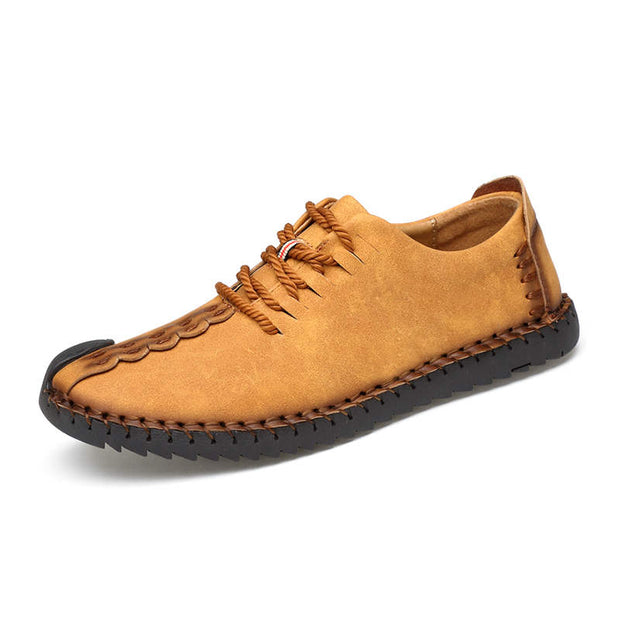 Men's Solid Breathable Non-slip Flats Casual Shoes