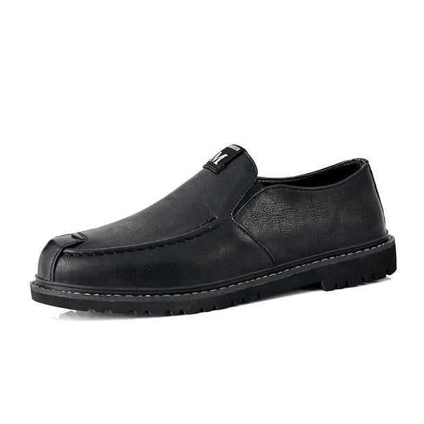 Men's Solid Round-Toe Non-slip Flats Formal Shoes