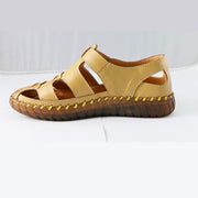 Women Summer Fashion Sandals Genuine Leather Flats