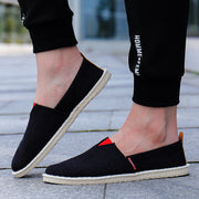 Men Soft Cloth Round-Toe Loafers Casual Shoes