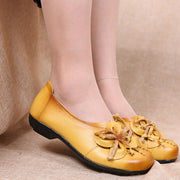 Women Summer Fashion Soft Genuine Leather Flats Casual Shoes