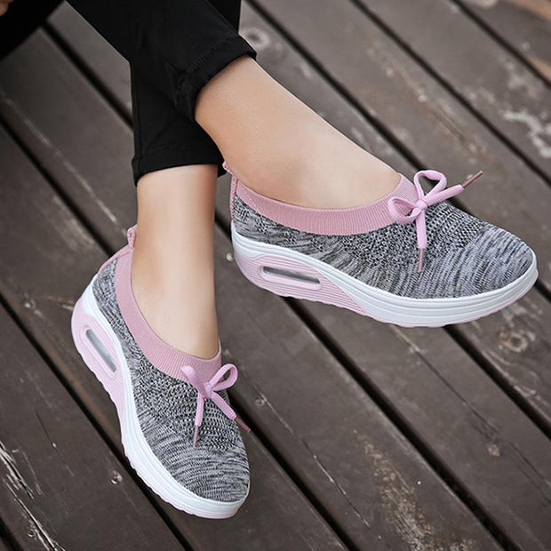 Women's Air Cushion Knitting Pumps Casual Shoes