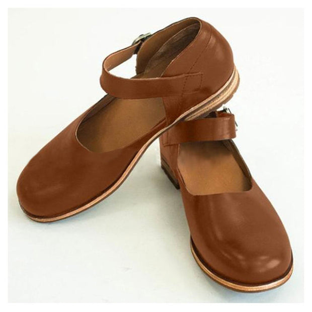 Women Summer Fashion Solid Sandals Soft Leather Shoes