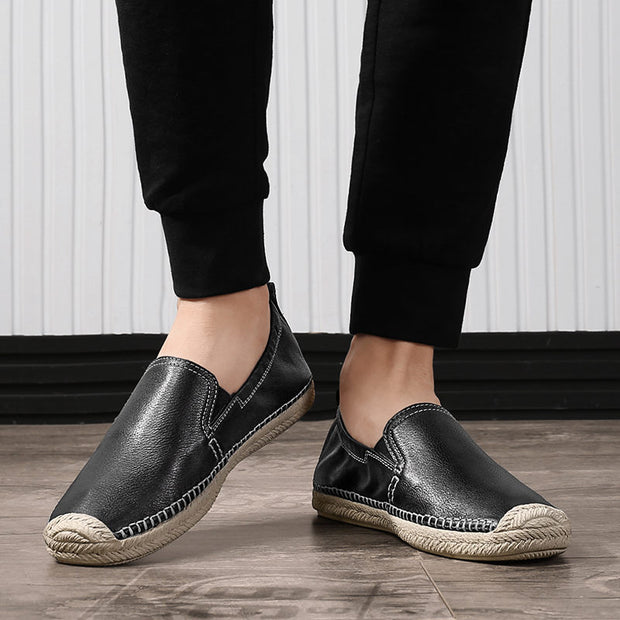 Men's Luxury Genuine Leather Casual Shoes Fashion Soft Flats