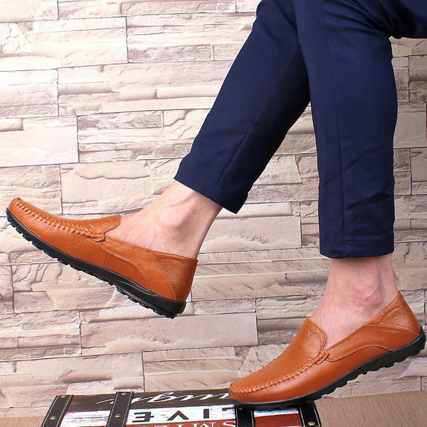 Men's Fashion Soft Genuine Leather Casual Shoes