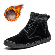 Men's Winter Warm Martin Boots Genuine Leather Non-slip Cotton Boots