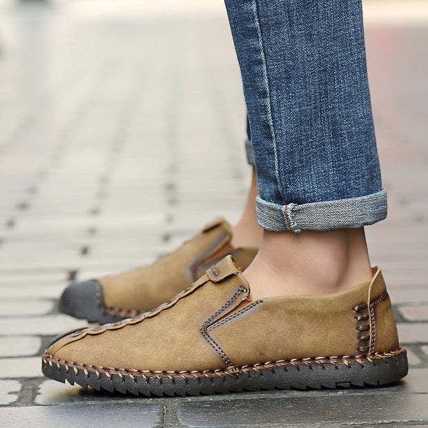 Men's High Quality Non-slip Casual Shoes Solid Patchwork Flats Shoes
