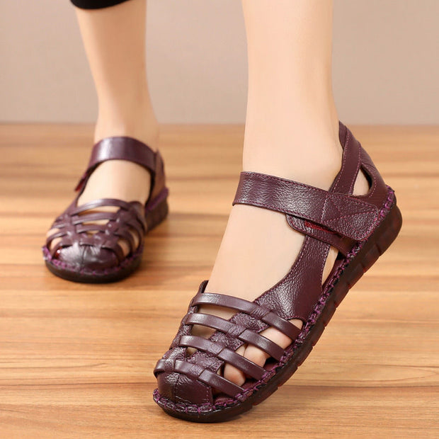 Women's Luxury Genuine Leather Hollow Sandals