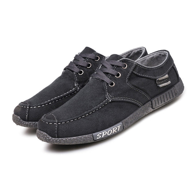 Men's Classic Solid Lace Comfortable Casual Shoes