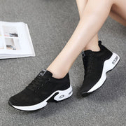 Women Mesh Fabrics  Solid Round-Toe Flat Casual Shoes