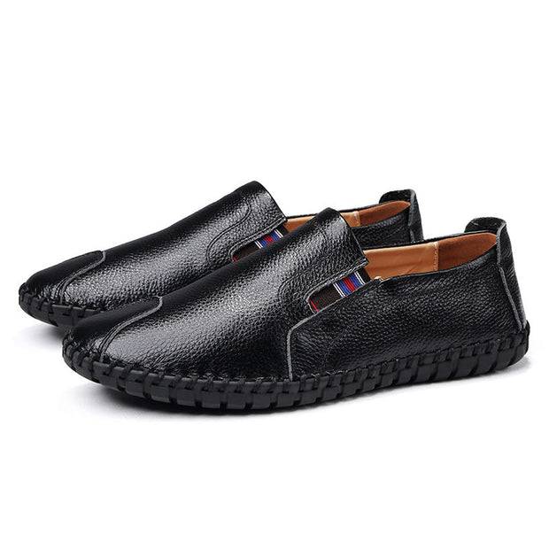 Men's Fashion Soft Genuine Leather Non-slip Flats Casual Shoes