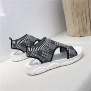 Women Summer Casual Open Toe Knitted Sandals