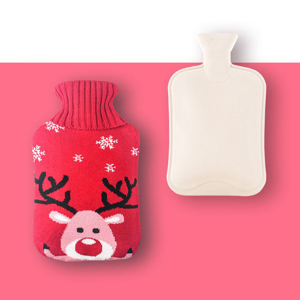 Women Water-filled Plush Rubber Portable Hand Warmers
