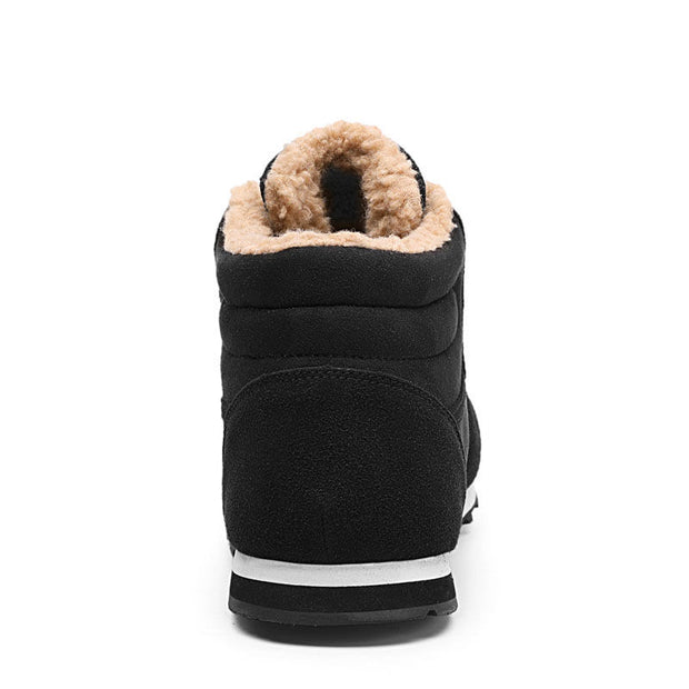 Men's Soft Waterproof Anti-slip Round-Toe Plush Snow Boots