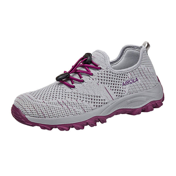 Women Mesh Fabrics Round-Toe Breathable Non-slip Athletic Shoes