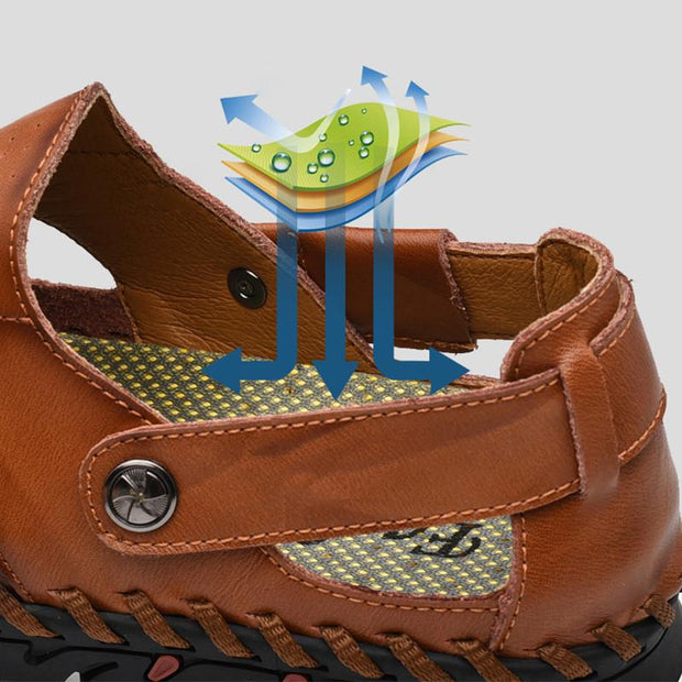 Men's Summer Solid Closed Toe Athletic Beach Sandals