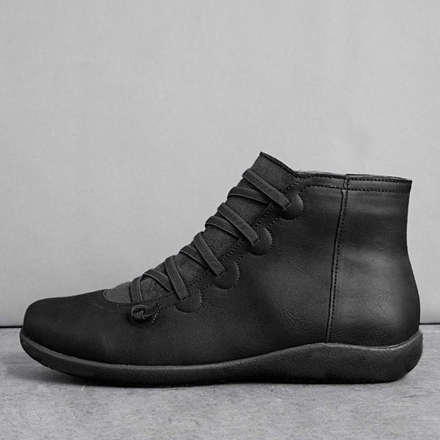 "Women's Winter Casual  Side Zipper Flat Retro Martin Boots(10% Off with Code ""TT10"" )"