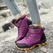 Women's Fashion Solid Round Head Breathable Lace-up Boots