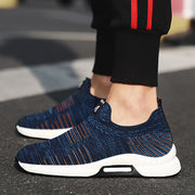 Men's Woven Outdoor Soft Round-Toe Casual Athletic Shoes