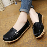 Women Summer Fashion Flats Genuine Leather Casual Shoes