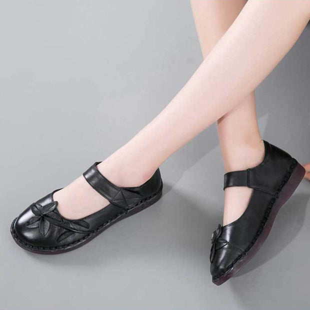 Women Summer Fashion Genuine Leather Flats Casual Shoes