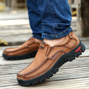 Men's Leather Lightweight Breathable Casual Loafers