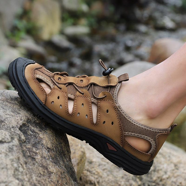 Men's Adjustable Outdoor Closed Toe Beach Shoes