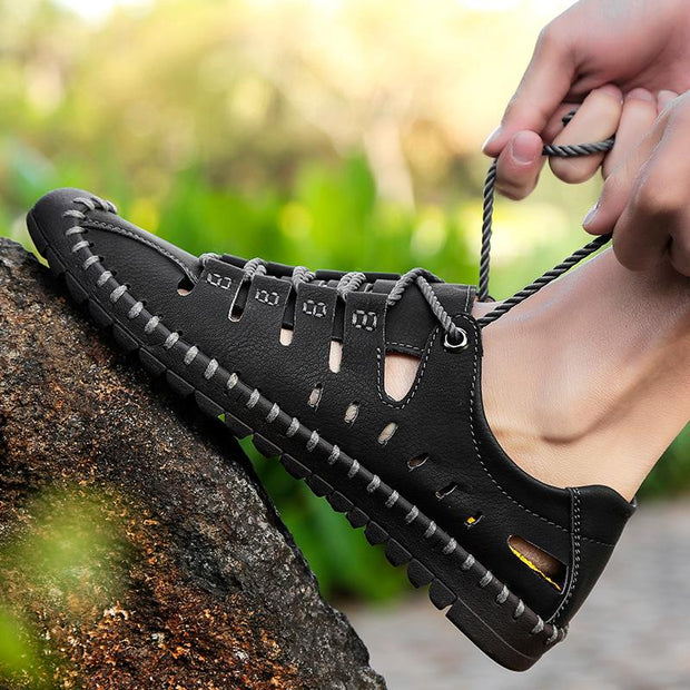 Men's Hollow Out Handmade Stitching Casual Shoes