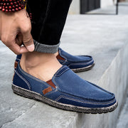 Men's Canvas Slip on Leisure Vintage Boat Loafers (Get 2nd One 20% Off)