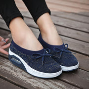 Women's Air Cushioned Knitting Slip-on Comfort Pumps Shoes