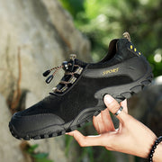 Men's Genuine Leather Soft Casual Athletic Hiking Shoes