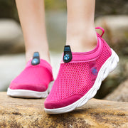 Women Summer Solid Set Foot Round Travel Casual Shoes