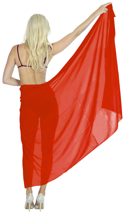 la-leela-sheer-chiffon-women-wrap-beach-sarong-solid-swimsuit-wrap-skirts-full-long-Blood Red_O12