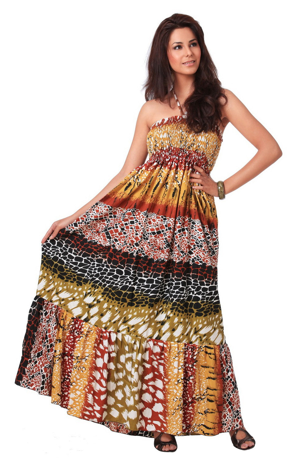 LA LEELA Soft Printed Sundresses Luau Coverup Womens Multi 1588 One Size