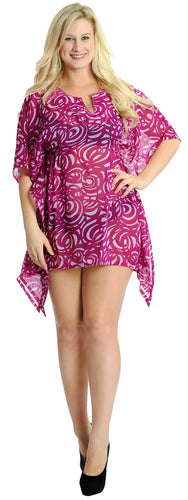 La Leela Chiffon Beach sundress Long maxi Blouse plus size Purple Passionate Purple_V246