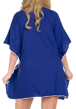 Load image into Gallery viewer, la-leela-rayon-solid-spring-summer-cover-up-osfm-14-28-l-4x-royal-blue_2556