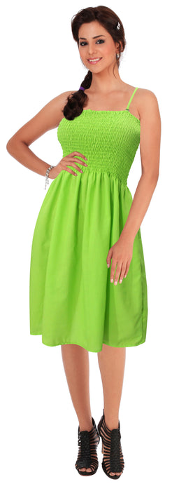 la-leela-womens-casual-tube-dress-beach-dress-bandeau-green_h104-one-size