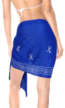 Load image into Gallery viewer, la-leela-cotton-casual-resort-pareo-girl-sarong-solid-72x19-royal-blue_462-blue_e357