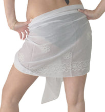 Load image into Gallery viewer, la-leela-cotton-swimsuit-pareo-towel-women-sarong-solid-72x19-white_6062-white_e352