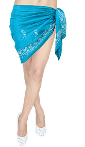 la-leela-cotton-cover-up-nightwear-women-wrap-sarong-solid-72x19-blue_290-blue_e351