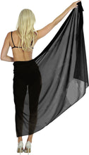 Load image into Gallery viewer, la-leela-sheer-chiffon-swimsuit-cover-up-wrap-sarong-solid-88x42-black_1722