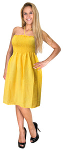 la-leela-rayon-solid-vacation-womens-party-top-tube-dress-yellow-2032-one-size