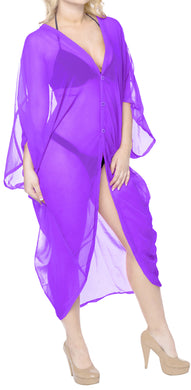 la-leela-women-kimono-blouse-beach-swimsuit-cover-up-solid-OSFM 16-28W [XL- 4X]-Violet_X685
