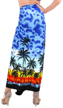 "Load image into Gallery viewer, La Leela Swimwear Soft Light Women Bathing Suit  Swimsuit Sarong Printed 72""X42"" Royal Blue_3067"
