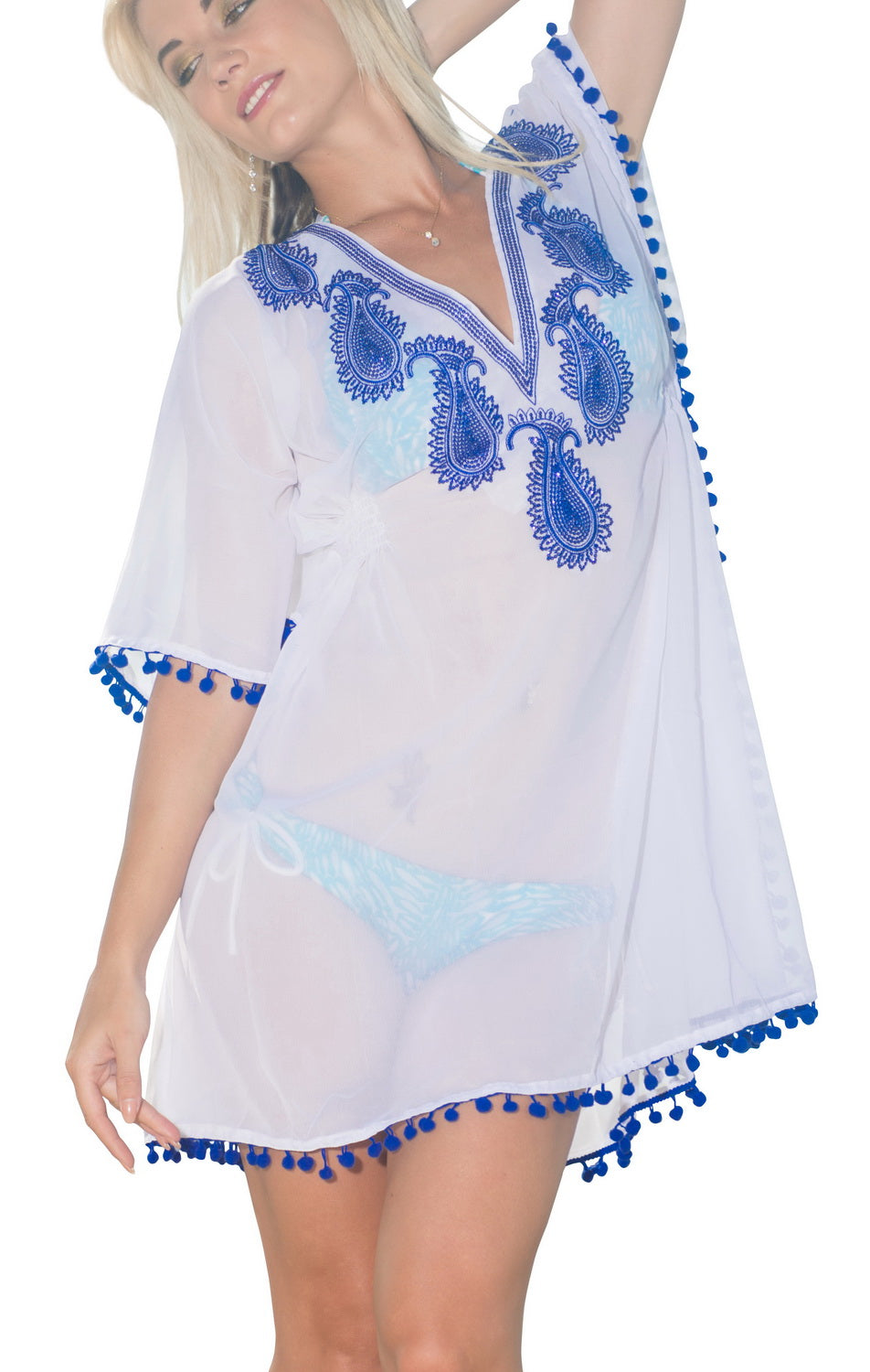la-leela-womens-beach-cover-up-blouse-top-white_g332-osfm-10-16-m-xl