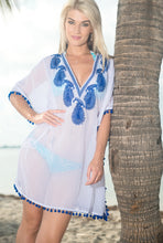 Load image into Gallery viewer, la-leela-womens-beach-cover-up-blouse-top-white_g332-osfm-10-16-m-xl