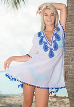 Load image into Gallery viewer, LA LEELA Women's Beach Cover up Blouse TOP White_G332 OSFM 10-16 [M-XL]